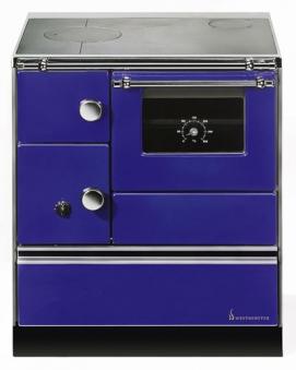 Küchenherd Westminster Wamsler K176A 70cm blau Stahl Ans. rechts Bild 1