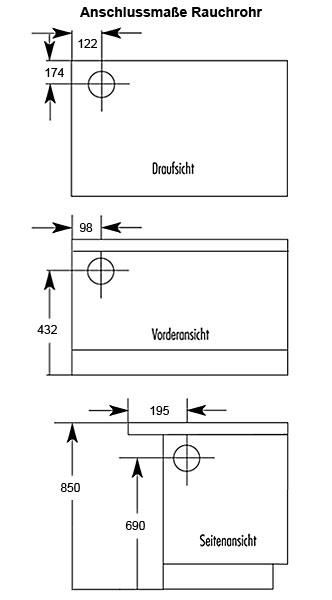 Küchenherd Westminster Wamsler K176A 70cm weiß Stahl Ans. links Bild 2