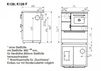 k chenherd kohleherd wamsler k128 f kaschmir stahl anschluss links bei. Black Bedroom Furniture Sets. Home Design Ideas