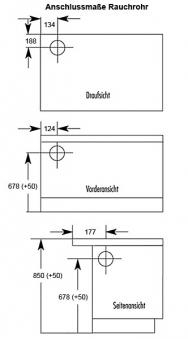 Küchenherd / Kohleherd Wamsler K128 maron Stahlkochfeld Anschluß links Bild 2