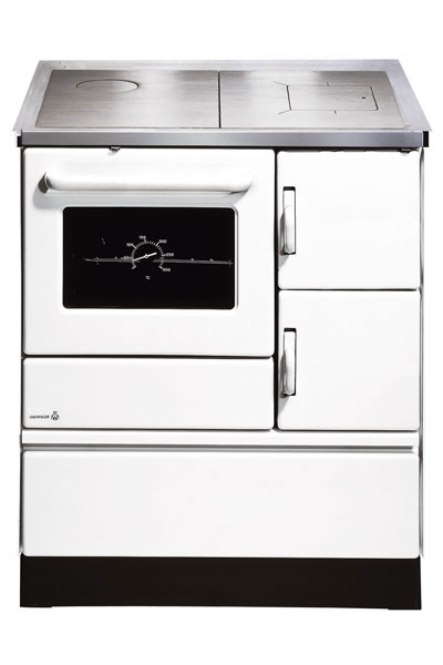 Küchenherd / Kohleherd Wamsler K128 weiß Stahlkochfeld Anschluß links Bild 1
