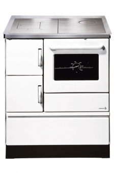 Küchenherd / Kohleherd Wamsler K128 weiß Stahlkochfeld Anschluß rechts Bild 1
