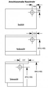 Küchenherd / Kohleherd Wamsler K128 weiß Stahlkochfeld Anschluß rechts Bild 2