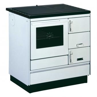 Küchenherd Holzherd Bartz HKK 80/60 Guss-Stahlplatte weiß Ans. links Bild 1