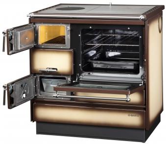 Küchenherd Holzherd Bartz HKK 80/60 Stahlplatte creme Ans. rechts Bild 2