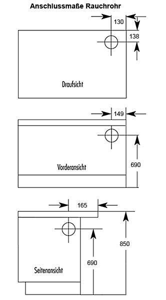 Küchenherd / Kohleherd Wamsler K170K weiß Stahlkochfeld Ans. rechts Bild 2