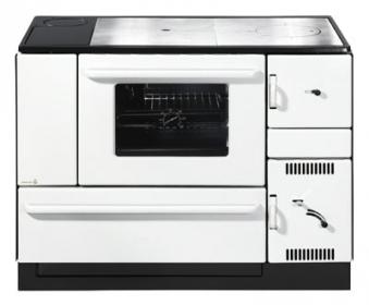 Küchenherd / Kohleherd Wamsler K170K weiß Stahlkochfeld Anschluß links Bild 1