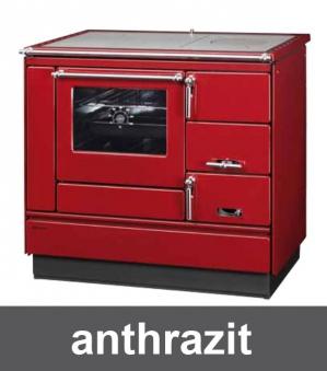 Küchenherd Holzherd Bartz HKK 92/60 Stahlplatte anthr. Ans. links Bild 1