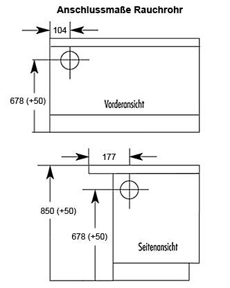 Küchenherd / Kohleherd Wamsler K138 weiß Ceran-Kochfeld Anschluß links Bild 2