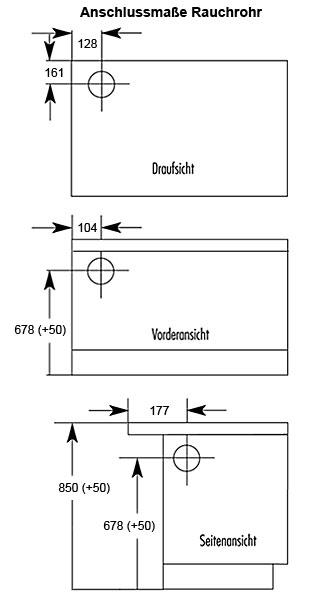 Küchenherd / Kohleherd Wamsler K138 weiß Stahlkochfeld Anschluß links Bild 2