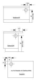 k chenherd kohleherd wamsler k138f anthrazit stahl anschluss links bei. Black Bedroom Furniture Sets. Home Design Ideas