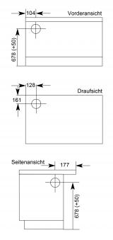 Küchenherd Wamsler K138CL Creative-Line weiß Stahlfeld Ans links Bild 2