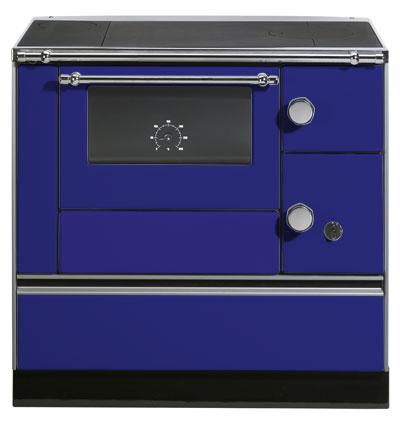 Küchenherd Westminster Wamsler K176 A 90cm blau Stahl Anschl. links Bild 1