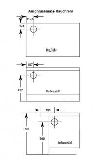 Küchenherd Westminster Wamsler K176 A 90cm schwarz Stahl Anschl. links Bild 2