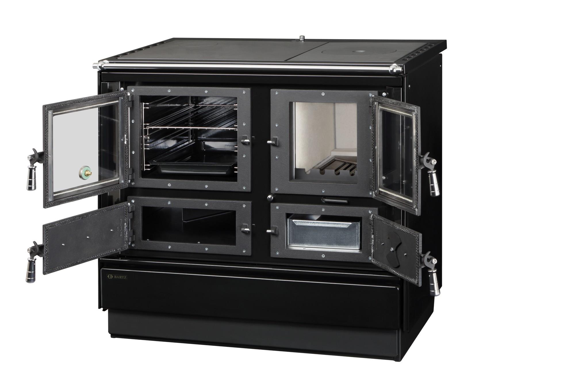 k chenherd holzherd bartz rusti schwarz anschluss links bei. Black Bedroom Furniture Sets. Home Design Ideas