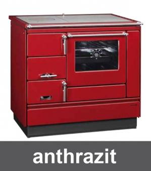 Küchenherd Holzherd Bartz HKK 92/60 Stahlplatte anthr. Ans. rechts Bild 1