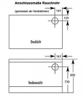 Küchenherd / Holzherd Wamsler K135F/A sand Stahlkochfeld Ans. rechts Bild 2