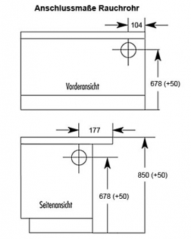 Küchenherd / Kohleherd Wamsler K138 weiß Ceran-Kochfeld Ans. rechts Bild 2