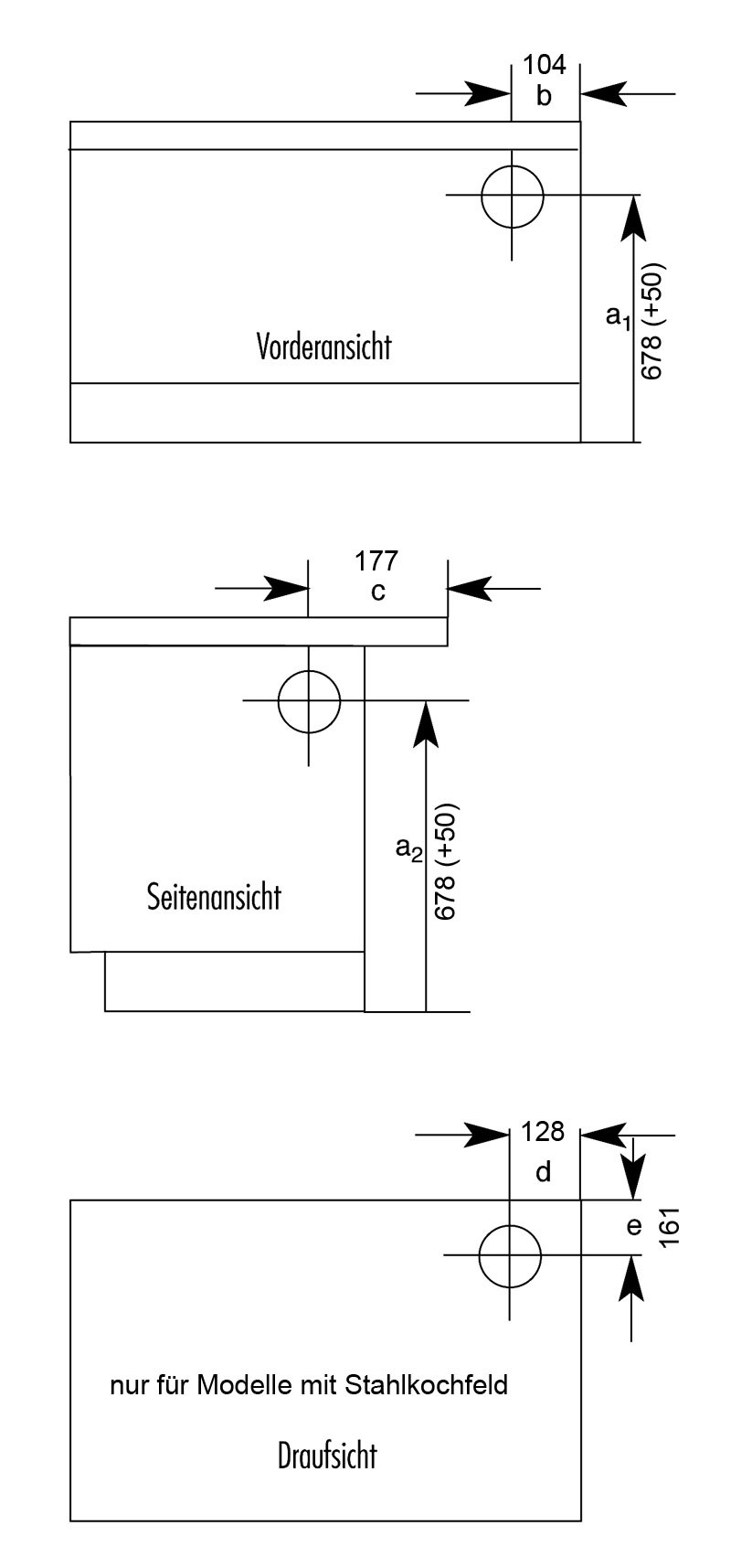 Küchenherd / Kohleherd Wamsler K138F schwarz Stahl Anschluss rechts Bild 2