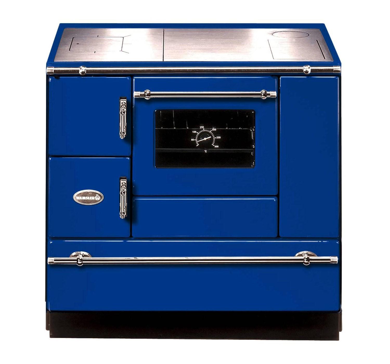 Küchenherd Wamsler K138CL Creative-Line blau Stahlfeld Ans rechts Bild 1