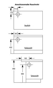 Küchenherd Westminster Wamsler K176 A 90cm blau Stahl Anschluss rechts Bild 2