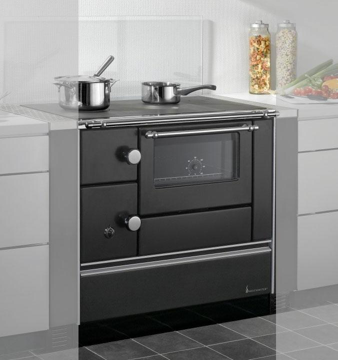 Küchenherd Westminster Wamsler K176 A 90cm schwarz Stahl Ansch. rechts Bild 1