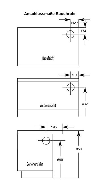 Küchenherd Westminster Wamsler K176 A 90cm schwarz Stahl Ansch. rechts Bild 2