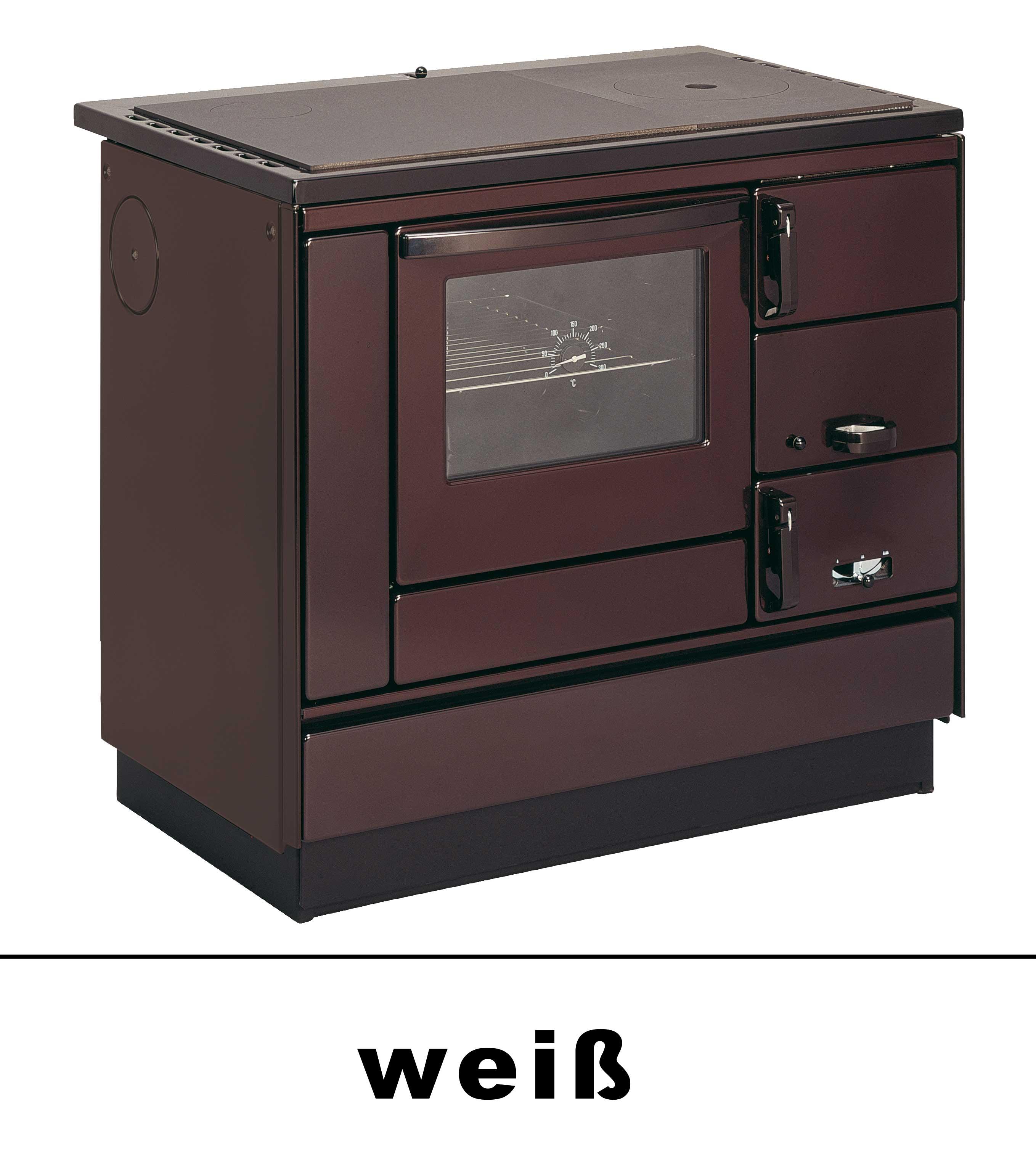 Küchenherd Holzherd Bartz HKK 92/60 Guss-Stahlplatte weiß Ans. links Bild 1