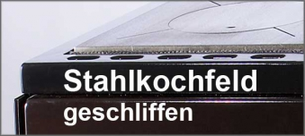 Stahlkochfeld für Bartz Herd Rusti / HKK 92/60 geschliffen Anschl. re.