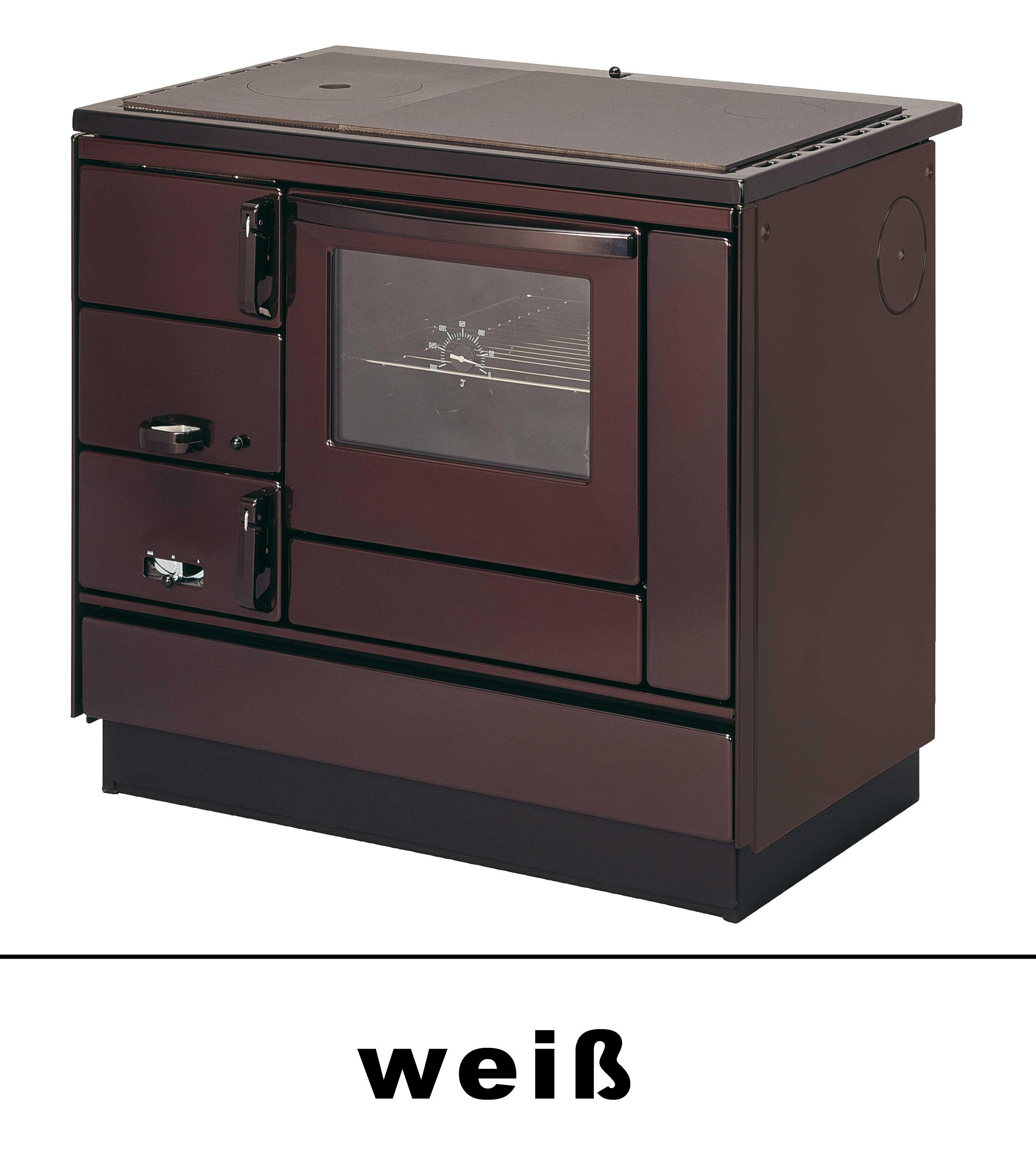 Küchenherd Holzherd Bartz HKK 92/60 Guss-Stahlplatte weiß Ans. rechts Bild 1