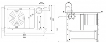 k chenherd westminster wamsler k185 f a wei gussfeld anschluss links bei. Black Bedroom Furniture Sets. Home Design Ideas