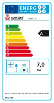 Küchenherd Wamsler K138CL Creative-Line blau Stahlfeld Ans links Bild 3
