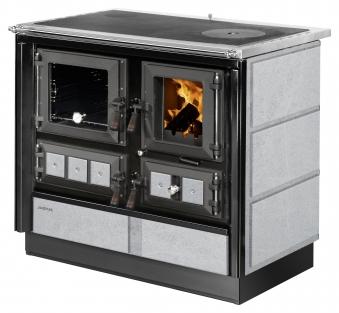 Küchenherd Justus Festbrennstoffherd Rustico-90 2.0 li Stahl  Speckst Bild 1