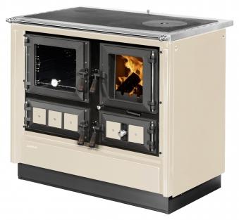 Küchenherd Justus Festbrennstoffherd Rustico-90 2.0 li Stahl  creme Bild 1
