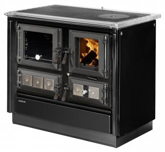 Küchenherd Justus Festbrennstoffherd Rustico-90 2.0 li Stahl  schwarz Bild 1