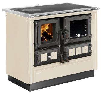 Küchenherd Justus Festbrennstoffherd Rustico-90 2.0 re Stahl  creme Bild 1