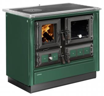 Küchenherd Justus Festbrennstoffherd Rustico-90 2.0 re Stahl  grün Bild 1