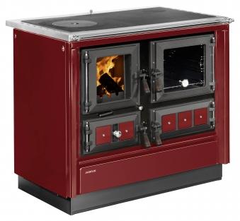 Küchenherd Justus Festbrennstoffherd Rustico-90 2.0 rechts Stahl rot Bild 1