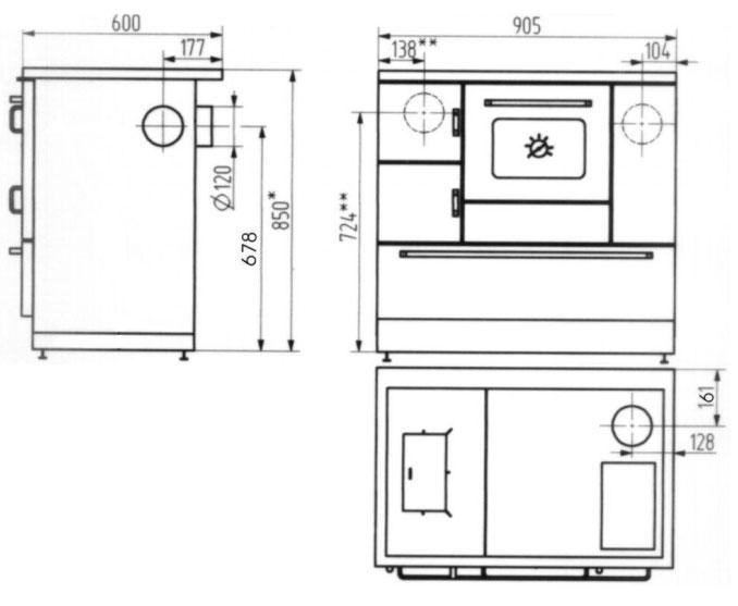 Küchenherd Wamsler K138CL Creative-Line kaschmir Stahlfeld Ans rechts Bild 2
