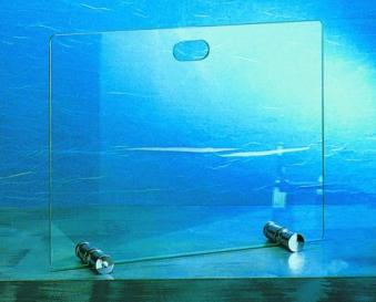 Funkenschutz - Funkenschutzglas Lienbacher Chrom 65x50cm Bild 1