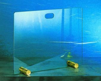Funkenschutz - Funkenschutzglas Lienbacher Messing 65x50cm Bild 1