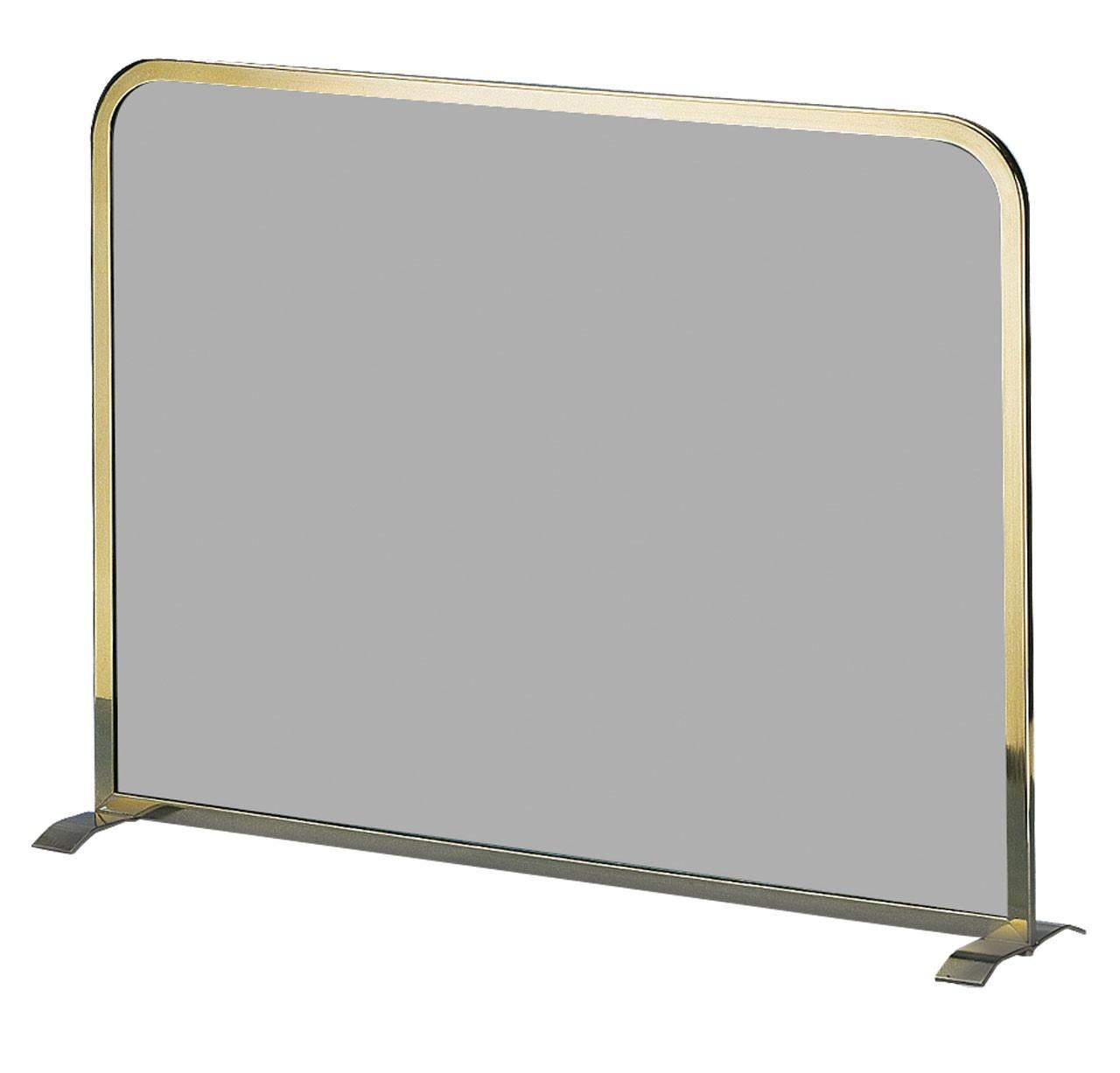 Funkenschutz - Funkenschutzglas Lienbacher Messing getönt 65x49cm Bild 1