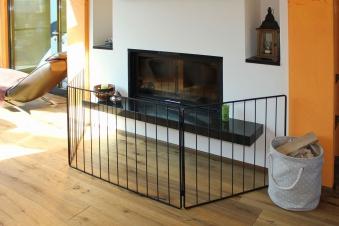 schutzgitter kamin sicherheitsgitter lienbacher klappb 74x112x84cm bei. Black Bedroom Furniture Sets. Home Design Ideas