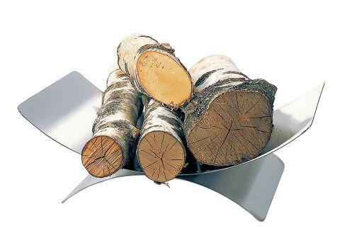 Holzkorb / Holzlege Lienbacher Edelstahl 16x45x30cm Bild 1
