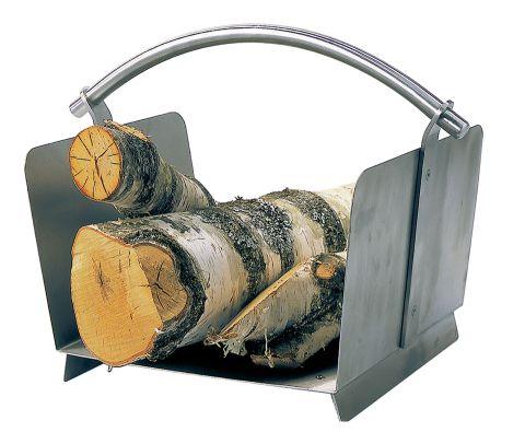 Holzkorb / Holzlege Lienbacher Edelstahl 36x47x30cm Bild 1