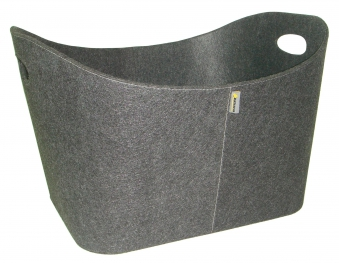 Holzkorb / Kaminholzkorb Baseline Filz grau Bild 1
