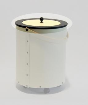 Deckel für Leder-Holzkorb / Holzeimer Lienbacher beige/schwarz