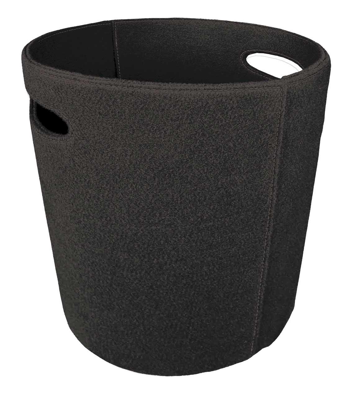 holzkorb kaminholzkorb lienbacher filzkorb schwarz 48x27x45cm bei. Black Bedroom Furniture Sets. Home Design Ideas