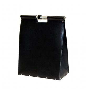 Holzkorb / Kaminholzkorb Lienbacher Leder schwarz 46x60x25cm Bild 1