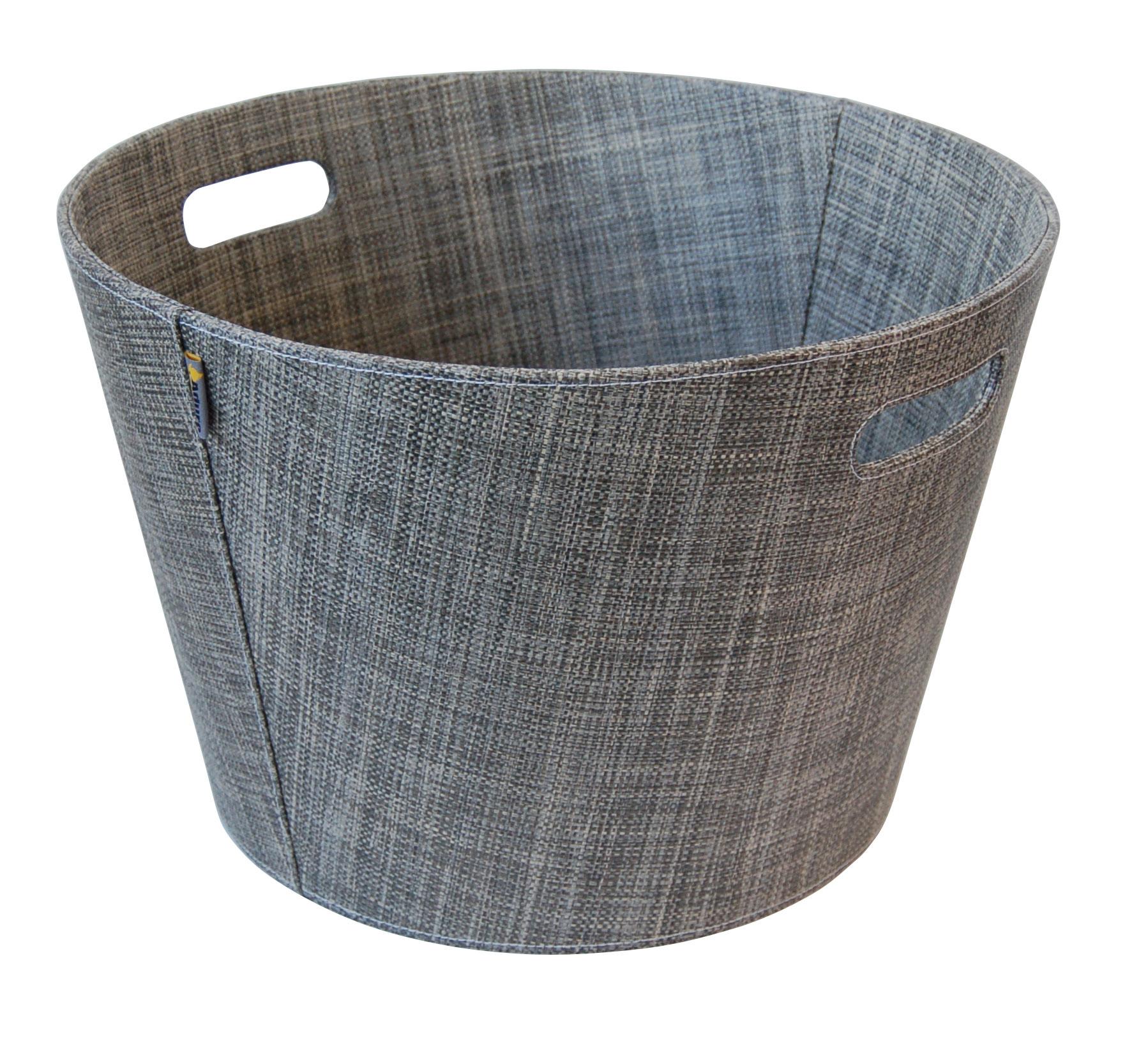 Holzkorb / Kaminholzkorb PET khaki melange Ø45cm Bild 1